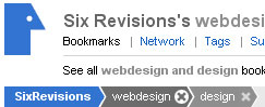 SixRevision's Web Design and Design Bookmarks on Delicious
