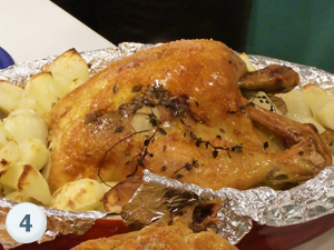 Roast Chicken with Rosemary Potatoes